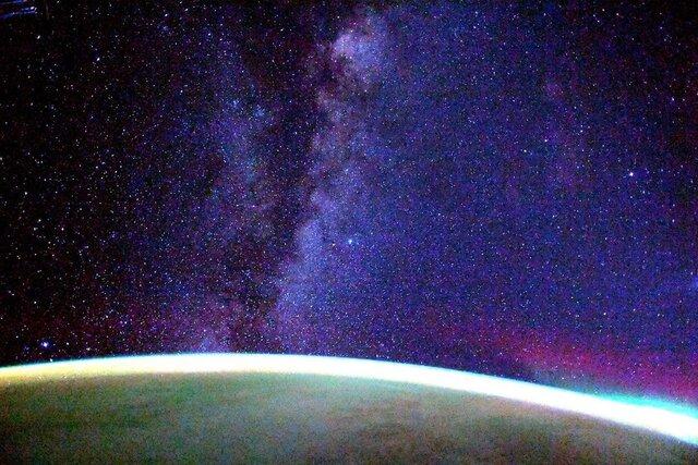 کهکشان راه شیری از منظر ایستگاه فضایی بینالمللی